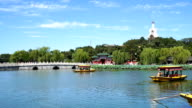 Beijing beihai park scenery under blue sky