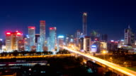 T/L WS Beijing CBD skyline at night