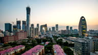 T/L WS Beijing CBD skyline day to night