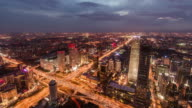 T/L WS HA ZO Beijing Central Business District, Night to Day Transition