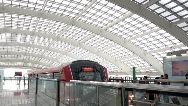 beijing metro transit vehicle in motion