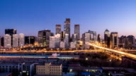 T/L WS HA ZO Beijing Skyline Night to Day Transition / Beijing, China