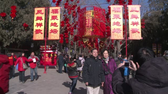Beijingers visit a temple fair in the Chinese capital ahead of the start of the Spring Festival that celebrates the Lunar New Year CLEAN Beijingers...