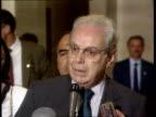 Beirut hostages INT CMS Javier Perez de Cuellar down stairs towards talking woman CMS Javier Perez de Cuellar pkf SOF still need to talk to Israelis...