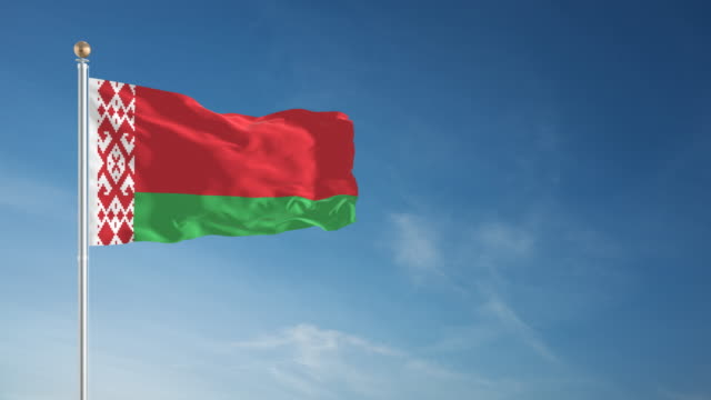 4K Belarus Flag - Loopable
