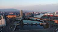 Belfast aerial sunset series