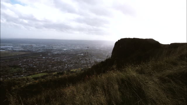 Belfast city and cavehill,time lapse