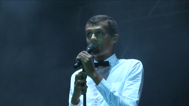 Belgian pop star Stromae gave a concert before a rapt public in Kigali