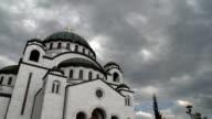 Belgrad, Serbien-orthodoxe St. Sava-Kathedrale video-clip