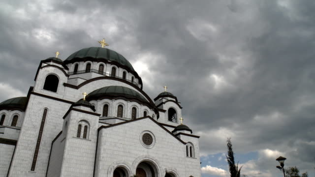 Belgrade Serbia Orthodox Cathedral of Saint Sava video clip