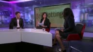 Bell Pottinger deserted by clients over South Africa scandal ENGLAND London GIR INT Lief Anya Schneider LIVE STUDIO interview SOT and Duncan Hames...