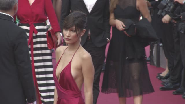 Bella Hadid at 'The Unknown Girl' Red Carpet at Grand Theatre Lumiere on May 18 2016 in Cannes France