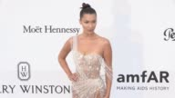 Bella Hadid on the red carpet at the amfAR Gala during the Cannes Film Festival 2017 Thursday 25 May 2017 Cannes France