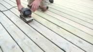 Belt Sander Sanding Deck Boards