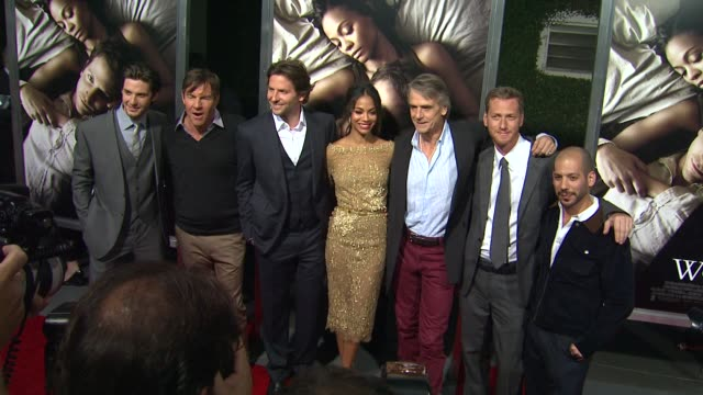 Ben Barnes Dennis Quaid Bradley Cooper Zoe Saldana Jeremy Irons Brian Klugman Lee Sternthal at The Words Los Angeles Premiere on 9/4/2012 in...
