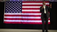 Ben Carson 2016 Republican presidential candidate speaks during a rally in Spring Arbor Michigan US on Wednesday Sept 23 2015 Shots Long shots of Ben...