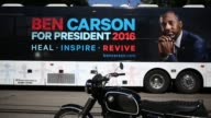 Ben Carson 2016 Republican presidential candidate speaks during a campaign stop in Jackson Michigan US on Wednesday Sept 23 2015 Shots Shot of Ben...