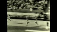 Ben Eastman and Bill Carr media 1932 Los Angeles Olympic Games for the final leg of the 400 meter event