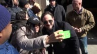 Ben Falcone arrives at AOL signs for and poses for photos with fans on April 06 2016 in New York City