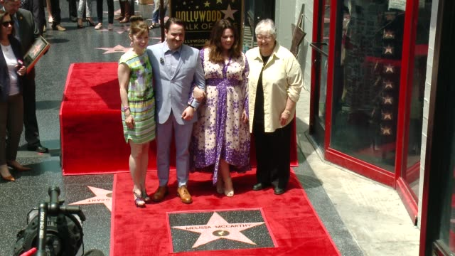Ben Falcone Melissa McCarthy at Melissa McCarthy Honored With Star On The Hollywood Walk Of Fame on May 19 2015 in Hollywood California