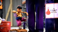 Bence Sarkadi and the Budapest Marionettes during the 16th Edition of the Toronto International Buskerfest raises money for Epilepsy Toronto a...