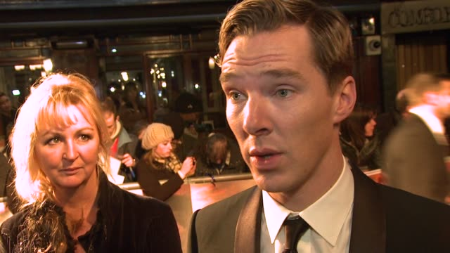 Benedict Cumberbatch on working with horses and working with Spielberg at War Horse UK Premiere at The Odeon Leicester Square on January 8 2012 in...