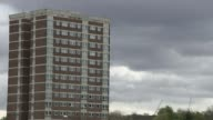 Benefit cuts and spiralling rents blamed on sharp rise in homelessness T27041720 / Leeds EXT Wide shot Holborn Towers tower block FOCUS housing block...