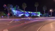 Benidorm Palace at night time lapse