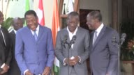 Benins president elect and his predecessor meet in Ivory Coast with Alassane Ouattara to reconcile and assure that political competition will not...