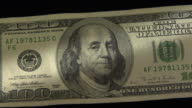 CU, ZO, Benjamin Franklin's portrait on one hundred American dollar bill
