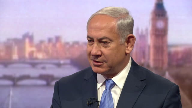 Benjamin Netanyahu praising Theresa May and saying even if people disagree with Israel's policies they shouldn't question the right for Israel to...