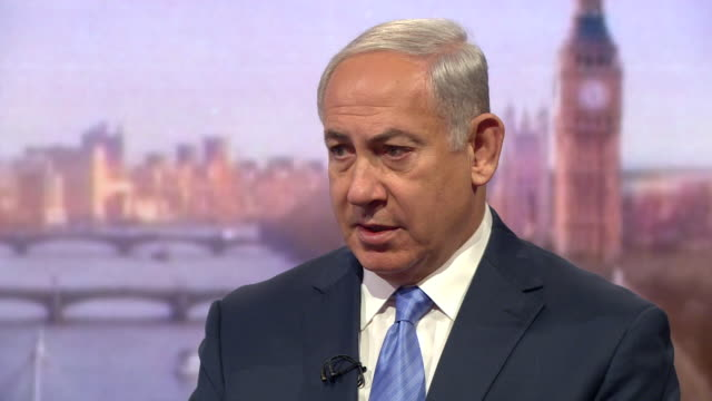 Benjamin Netanyahu saying Israel are on the frontline of a 'great battle for the future of the world'