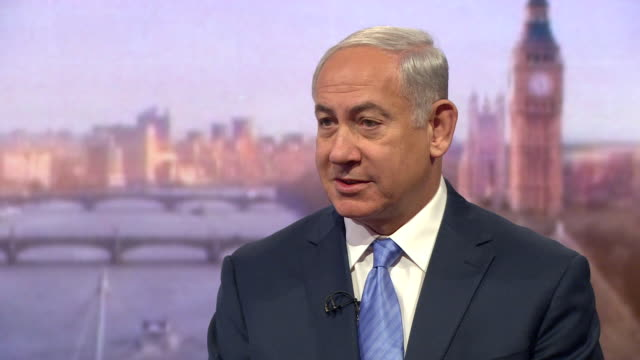 Benjamin Netanyahu saying 'no democracy has been threatened like Israel' and that the response has been 'restrained'