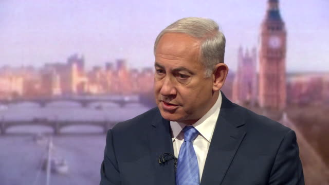Benjamin Netanyahu saying settlements 'are an issue but not the issue' and that the problem lies with Palestine not recognising a Jewish state
