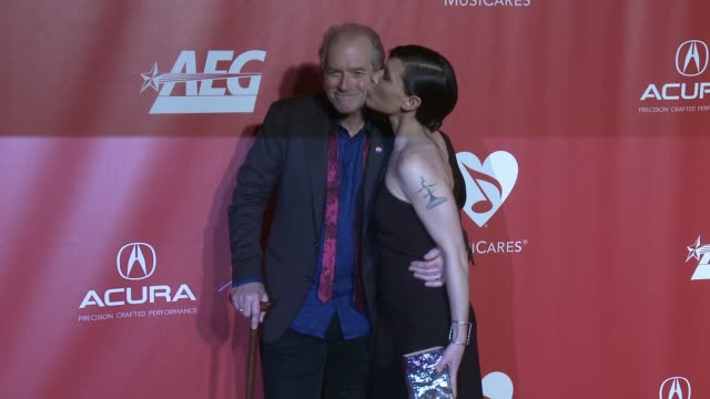 Benmont Tench Alice Carbone Tench at MusiCares Person of the Year Honoring Tom Petty in Los Angeles CA