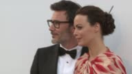 Berenice Bejo and Michel Hazanavicius at 2012 amfAR's Cinema Against AIDS on May 24 2012 in Cannes France