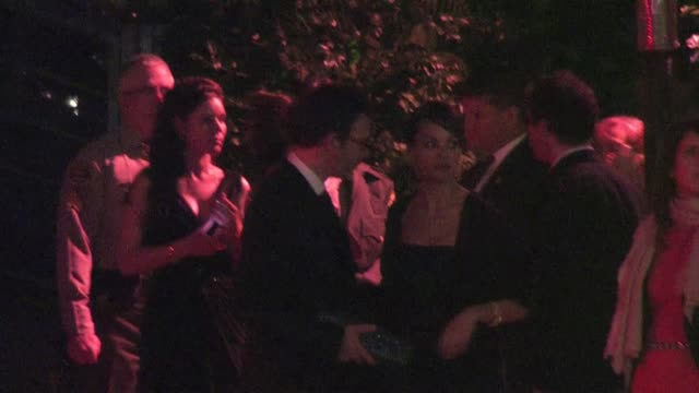 Berenice Bejo and Michel Hazanavicius leaving Sunset Tower Hotel in West Hollywood
