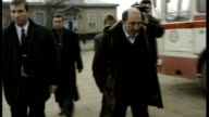Berezovsky seeks compensation from Abramovich T18129914 Berezovsky walking towards with others at the time of the Russian Federation elections