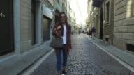 Beril Aydin wearing Prada shoes Fendi bag Zara jeans and jacket and RayBan sunglasses is seen during Milan Fashion Week Spring/Summer 2018 on...
