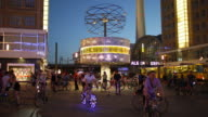 Berlin Alexanderplatz Nightlife with Cyclists