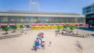 Berlin Alexanderplatz Summer Day with Citylife and Tilt Shift Look Timelapse