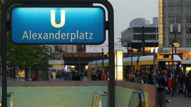 Berlin Alexanderplatz with Train Traffic and Blur