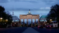 Berlin - Brandenburg Gate at night