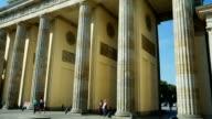 Berlin Brandenburg Gate Tilt Up (4K/UHD to HD)