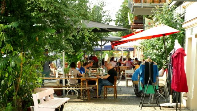 Berlin Prenzlauer Berg Sidewalk Cafes (4K/UHD to HD)