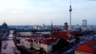 PAN T/L Berlin Skyline At Dusk