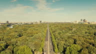 Berlin Skyline Time Lapse with Zoom over Tiergarten and Dynamic Clouds