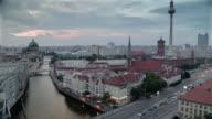 Berlin skyline timelapse