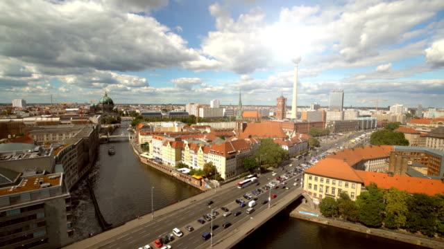 Berlin Skyline with sun