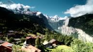 Bernese Alps panorama of Jungfrau Switzerland